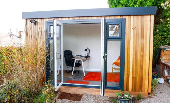 A garden room allows you to enjoy your garden all year round