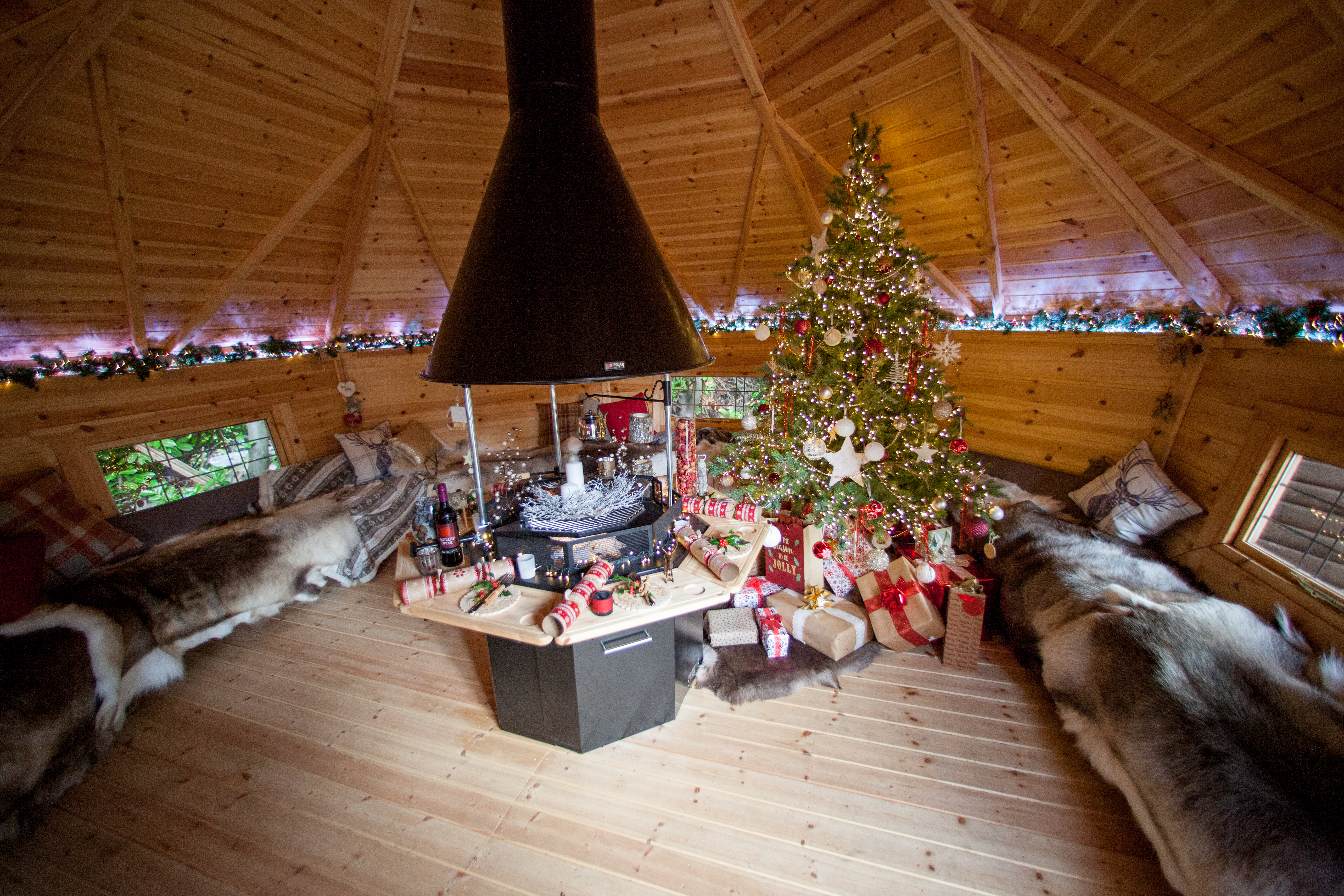 cabin master bbq hut arctic cabins christmas