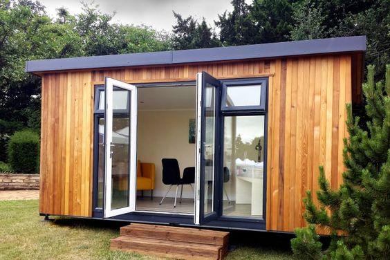 Modern garden buildings Custom Installation Cabin Master UK
