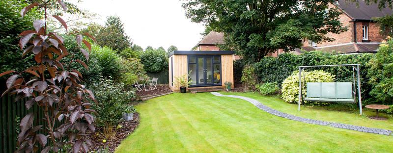 Quality wooden garden room for socialising