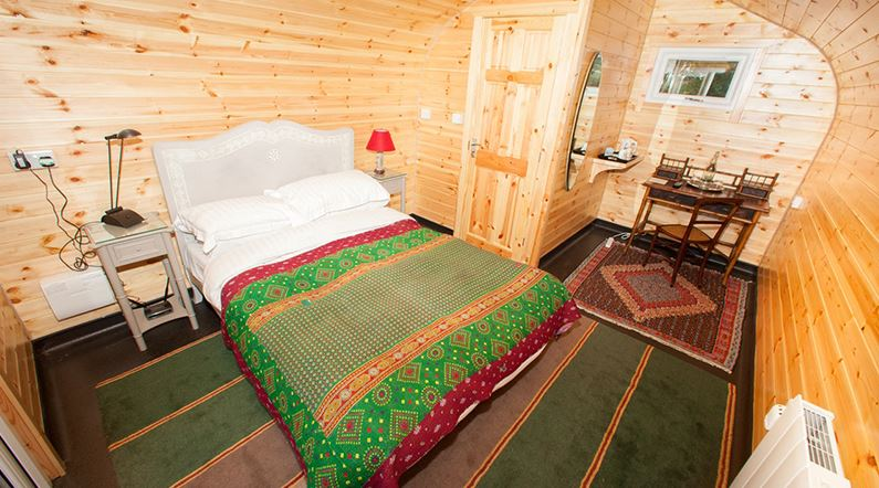 Make your friends beg to sleep over with a garden room bedroom
