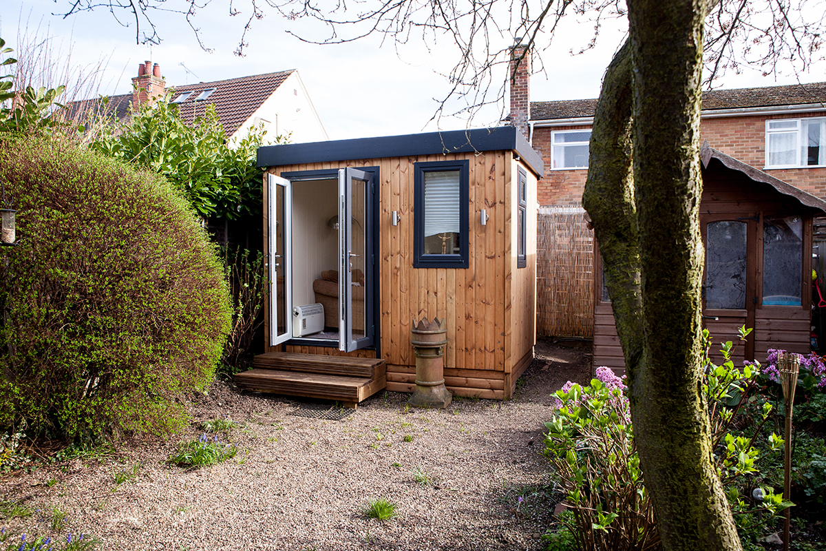 Benefits to working From home UK in your Own Garden Office Room