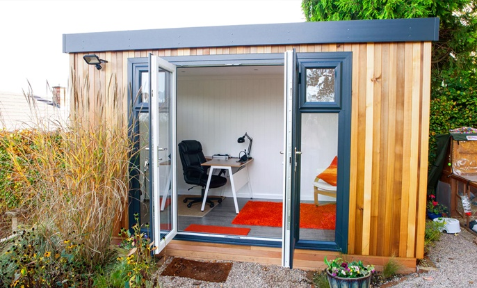 A garden room allows you to enjoy your garden all year round